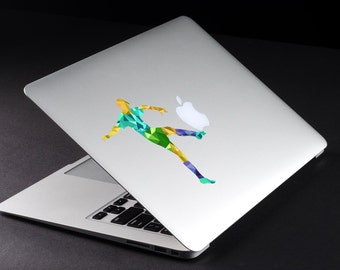 Modern Geometric Football / Soccer, Apple MacBook / Laptop / iPad color Decal sticker