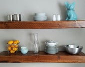 Shipping included - Floating Wood Shelves for kitchen