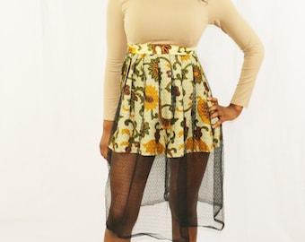 African Prink Mist Midi Skirt (Autumn)