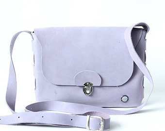 One Piece leather bag lilac