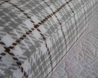 FALL. Brushed.Cotton.Red.Grey.Flannel Cream,Brown,Grey.Winter.Cotton.Plaid. 2 styles.Pillow Covers.Slip Covers.Rustic Decor.Country Living