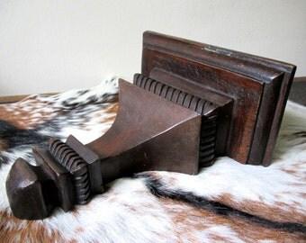 "Large Antique Solid Wood Wall Sconce - 10"" width, 11"" length, 5.5"" shelf depth"