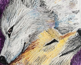 pair of foxes (acrylic) /foxes couple (acrylic)