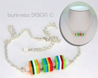 Chain cube colorful silver colors fashion jewelry colorful colourful-mixx-DESIGN