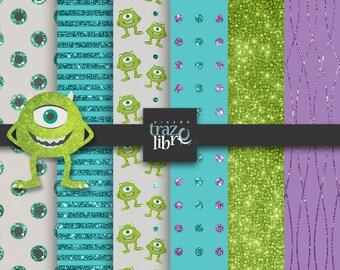 Digital Paper: Disney Princess Clipart | MONSTERS INC | party clip art | digital clip art | digital art | Scrapbooking | Clip Art
