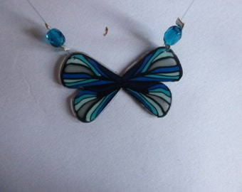 Blue large Butterfly Necklaces