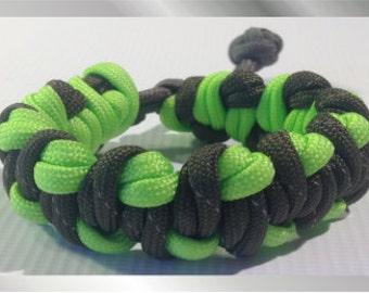 Green on Green Paracord Bracelet