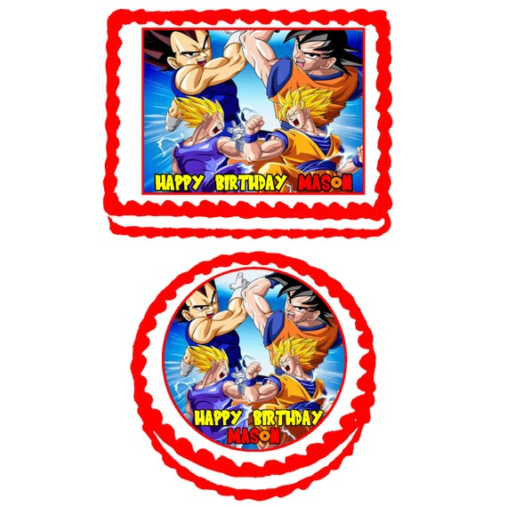 Dragon Ball Z Cake Decorating Kit : Pin Dragon Ball Gt Goku Super Saiyan 4 Vs Baby Vegeta Cake ...