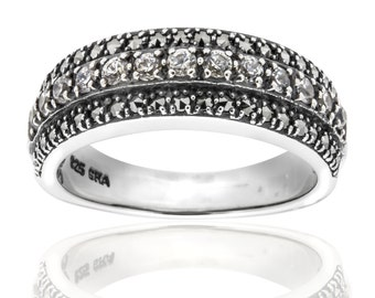 Marcasite Cubic Zirconia Ring