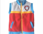 PPV Paw Patrol Ryder Vest Unisex Gift Party Boy Girl Soft Fleece real 2 pockets  Embroidery All Season Very Soft