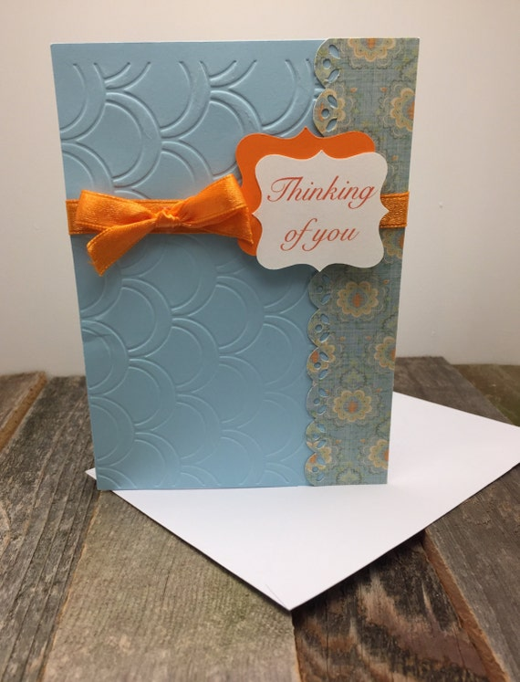 Thinking of you card blue and orange thinking of you card like this item publicscrutiny Image collections