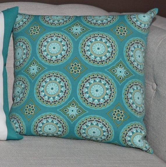 Seafoam Blue Decorative Pillows : Outdoor Decorative Pillow Cover Seafoam Green Blue Yellow