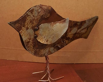 Oxidized Metal  Bird