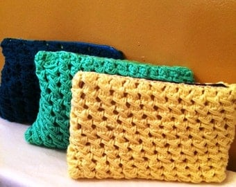 Handmade Crochet Pop Style Clutch