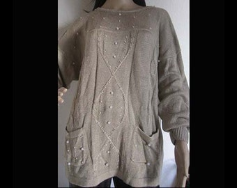 Vintage 80s sweaters with pearls oversize