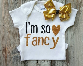 Onesie, Baby girl onesies, Baby girl clothes, Baby clothes, Cute onesies, Baby onesies, Baby, Baby girl, Im so fancy onesie, Baby shower