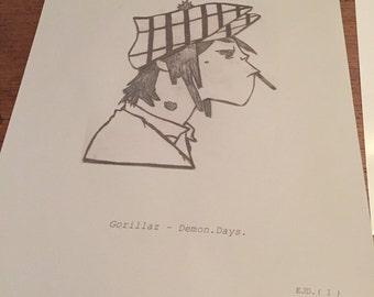 Gorillaz- Demon Days Print