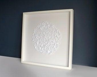 Paper Flower Circle Large Wall Art