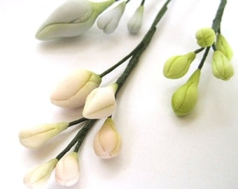 Assorted buds - gum paste filler flowers , sugar paste cake toppers, cake decoration
