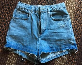 AA distressed cut off shorts