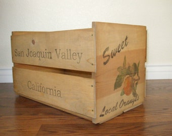 Hand crafted crates made from vintage pine wood