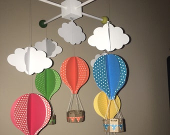 Hot Air Balloon Mobile/Nursery Decor
