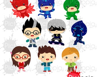 Voucher code buy1get1 Kid Superhero Solid Color Digital Clipart for Personal Use / INSTANT DOWNLOAD