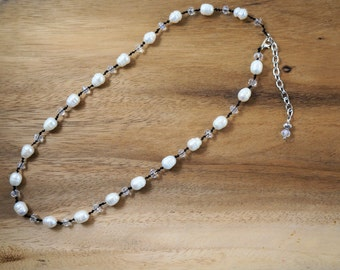 "Hand Knotted Silk Thread Fresh Water Rice pearl Necklace 20-22""/Gift for Her/Mother's Day Gift"