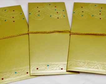 Gold Gift Money Envelope (shagun/sagan envelope) embossed