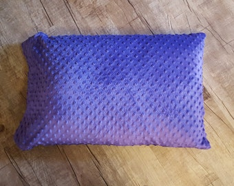 Purple Minky Pillowcase