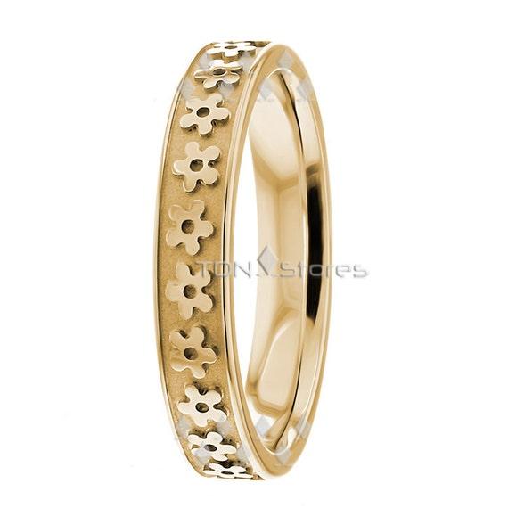 Women39s two tone wedding rings designer 400mm wide by for Two tone wedding rings for women