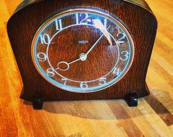 Vintage Smoths Art Deco wooden clock
