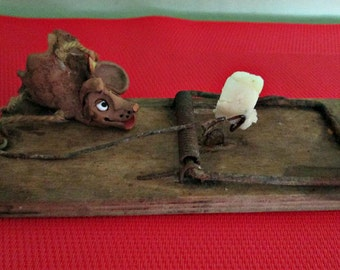 SALE! Antique Primitive Rustic Wooden Mouse Trap/ Rat Trap