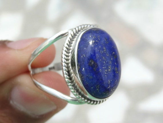lapis lazuli ring silver ring92 5 solid sterling silver