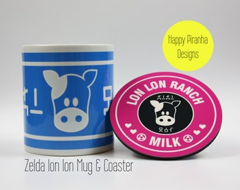 Zelda Lon Lon milk mug , Legend of Zelda - Gaming Mug - Nintendo Mug - Him and Her mugs gift - Present Unique - Retro Gaming - Zelda link