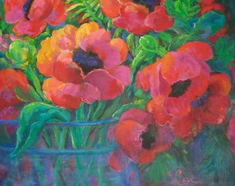 Red Poppies in Water
