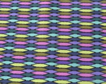 Purple Blue Geometric Design Fabric