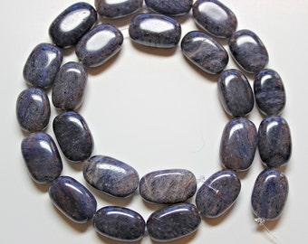 Blue Adventurine Oval 18x10mm Loose Beads, Natural Gemstone Beads, Semi precious Gemstone Beads, Full Strand, Wholesale Beads, Blue Beads