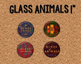 "Glass Animals - 1"" Pinback Buttons"