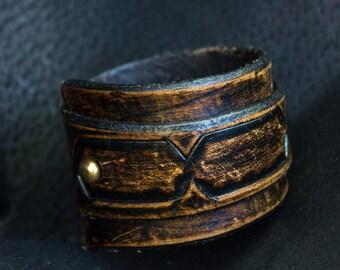 Leather Wrap Bracelet  for Men