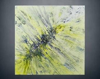Original oil painting. Abstract. Single piece. 60 x 60 x 4 cm
