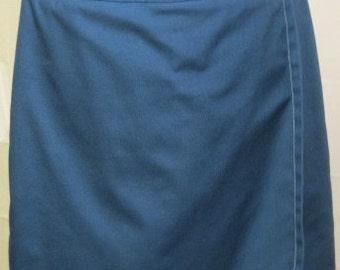 1960s-1970s Dark Blue Koratron Skort by Koret Of California Size 10