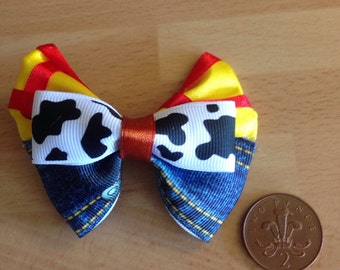 Woody Toy Story mini hair bow