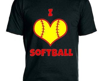 I Heart Softball  Tee-Shirt