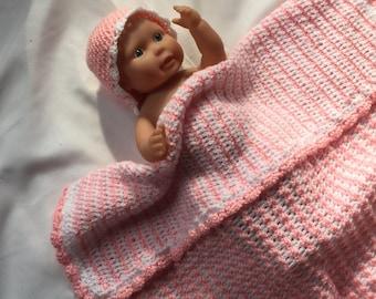 Handmade-crochet baby blanket for girls