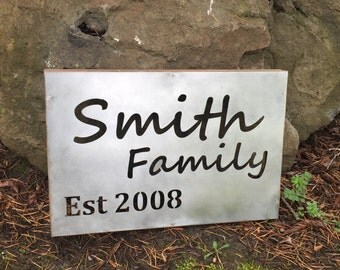 Custom Family metal sign