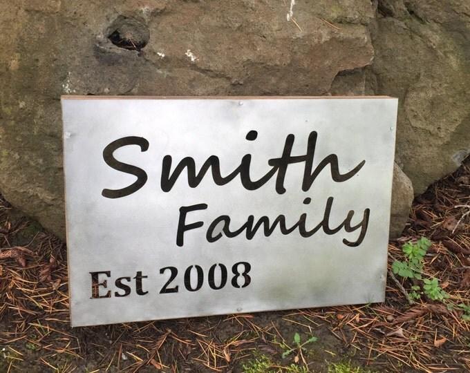 Custom Family metal sign