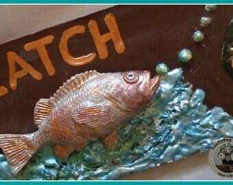 Fish Chocolate Bar/Fisherman/Male Chocolate/ Mens Gift/Fishing/Male Birthday/Boy Birthday/Uncle/Dad/Male Friend/Brother/Seaside/Ocean/Water