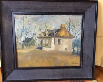 oil painting on canvas French Canadian artist Richard Bernier country house Beaumont québec