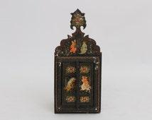 Hand Carved Mirror / Bohemian / Folk Art / Far East